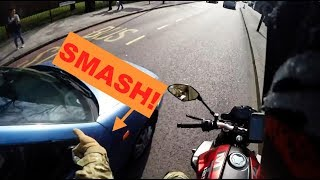 BIKER SMASHES MIRRORS | MOTORCYCLE ROAD RAGE COMPILATION 2017