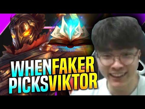 Faker Chilling with Viktor! - SKT T1 Faker Plays Viktor vs Zilean Mid! | Faker KR SoloQ Patch 9.22