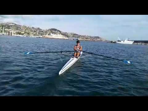 """Тренировка в одиночке 1х на веслах """"macon"""", юноши до 14 лет. Алберто Стразулла ( Италия)"""
