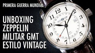 Unboxing Zeppelin GMT Hecho en Alemania 7642-5 Reloj Clásico en Español