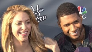 Usher & Shakira Share the Love for One Another & Rap Season 6 Mentoring on The Voice