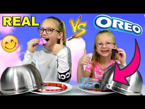 REAL FOOD vs OREOS CHALLENGE!!!