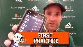 Head Coach Manny Diaz Recaps FIRST Day Of Preseason Practice | Full Interview