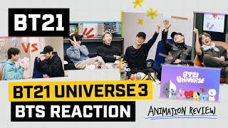 [BT21] BT21 UNIVERSE ANIMATION - BTS Reaction