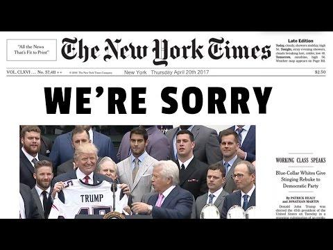 New York Times Apologizes for Fake News
