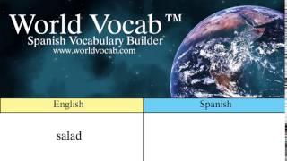 Free Spanish Quick Vocab™ :Salad - la ensalada