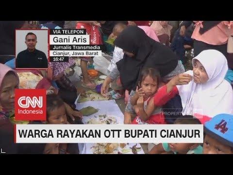 Rayakan OTT Bupati Cianjur, Warga Gelar Pesta Liwet di Alun-alun
