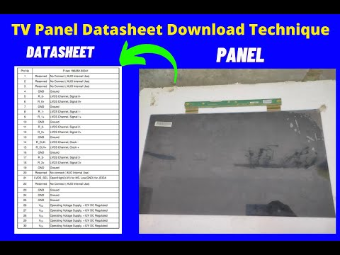 How to download LCD LED panel Datasheet
