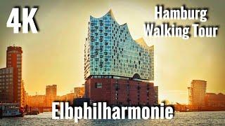 Elbphilharmonie - Concert Hall 4K60 UHD - Hamburg Walking Tour