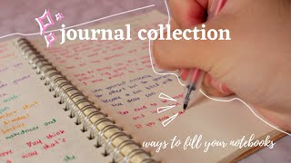 journal collection 2020 ✨ (ways how to fill your notebooks)