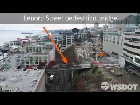 Aerial views of Seattle before and after Alaskan Way Viaduct removal