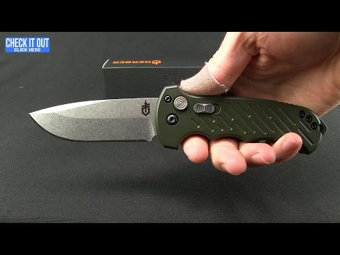 "Gerber Auto 06 10th Anniversary Automatic Knife OD Green (3.8"" Stonewash)"
