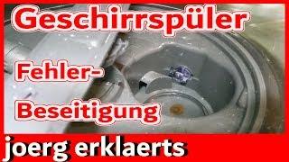 Geschirrspüler pumpt nicht mehr ab Fehler Beseitigung  F8 E1 Bauknecht, Whirlpool,  Privileg Nr 236