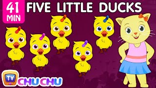 Five Little Ducks Plus Many More Nursery Rhymes   Cartoon Songs for Kids   Cutians   ChuChu TV