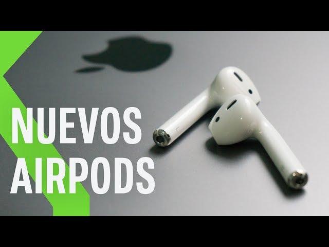 """Nuevos Airpods con """"Oye Siri"""" y carga inalámbrica"""
