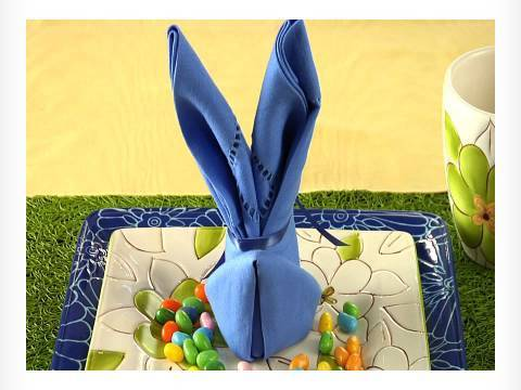 Making an Easter Bunny Napkin