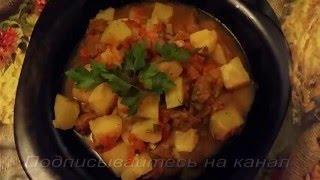 Тушёная говядина с картофелем в мультиварке
