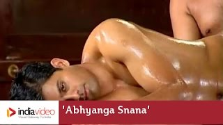 Abhyanga Snana, ayurvedic oil massage to male