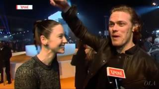 Caitriona Balfe & Sam Heughan - Interview - Trainspotting Premiere