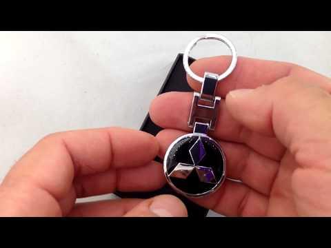 Металлический брелок с логотипом MITSUBISHI black