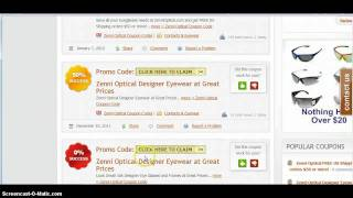 Coupon Codes - Glasses Usa, 1800 contacts, contact lens king