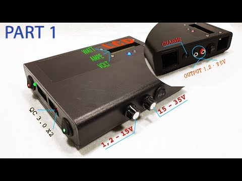 Build a Power Bank QC 3.0 and Power Supply Voltage - Part 1 Make a 4S 10000mAh Battery