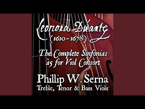 Phillip Serna's Recording of the Sinfonia à5, No.7 Terti toni (ca.1625-1650) by Leonora Duarte (1610-1678)