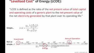 levelised cost of energy lcoe