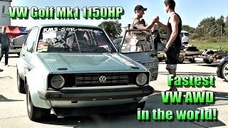 16Vampir VW Golf Mk1 1150HP AWD 8,29s @ 281kmh 2014 NEW VERSION