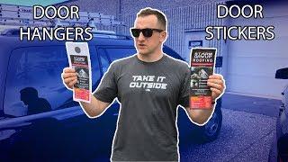 Door Hangers VS Door Stickers Marketing Difference