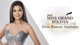 Elena Romero Zambrana Miss Grand Bolivia 2018 Introduction Video