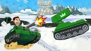 Машинки мультфильмы для детей детские развивающие игры на андроид зимнее сражение Hills Of Steel
