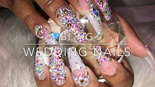 Bling Wedding Nails 👰🏽💍💎