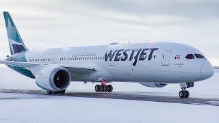 WestJet Boeing 787-9 Dreamliner First Departure from Calgary Airport