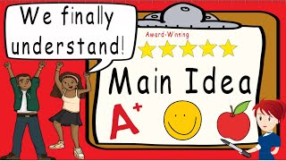 Main Idea | Award Winning Main Idea and Supporting Details Teaching Video | What is Main Idea?