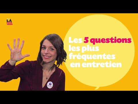 Video 5 questions récurrentes en entretien