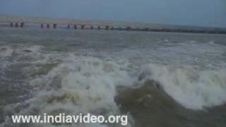 Prakasam Barrage over Krishna River at Vijayawada
