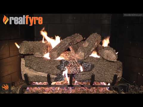 Real Fyre Charred Forest Oak Vented Gas Log Set