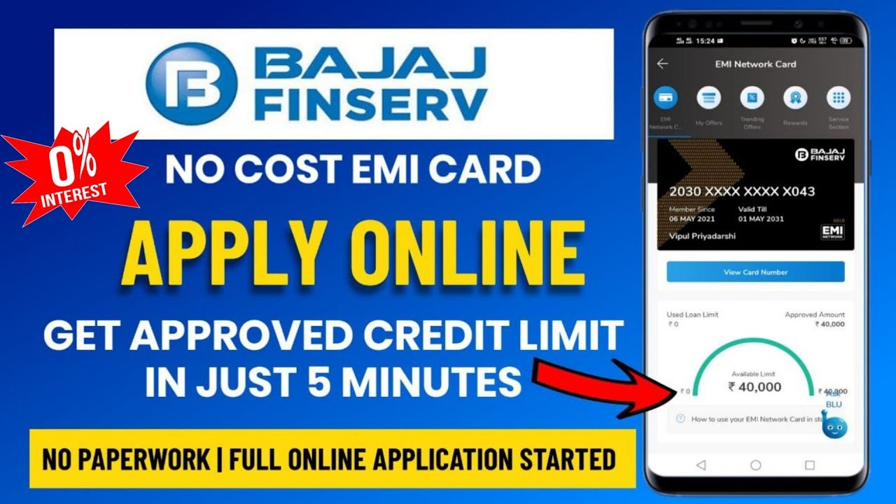 Bajaj Financing Card Kaise Banaye|Bajaj Finserv EMI Card Apply Online Process in 5 minutes|V Talk thumbnail