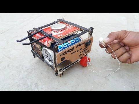 WOW! How to Make a Generator || At Home with cardboard & Pepsi Tin || Mini Generator || 9v battery
