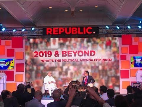 Shri Amit Shah's address at Republic Summit - Surging India in Mumbai   19 December 2018