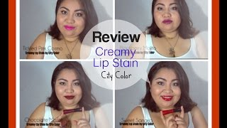 preview picture of video 'Creamy Lip Stain City Color // AbrilLoves'