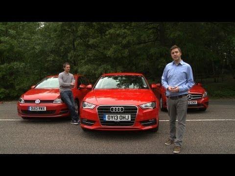 2013 Audi A3 vs Mercedes A-Class vs VW Golf Group Test - What Car?