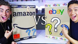 AMAZON MYSTERY BOX VS EBAY MYSTERY BOX! (OMG XBOX SERIES X!?) EPIC CHALLENGE - GIVEAWAY