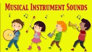 Musical Instruments Sounds For Kids ★ Part 1 ★ learn - school - preschool - kindergarten