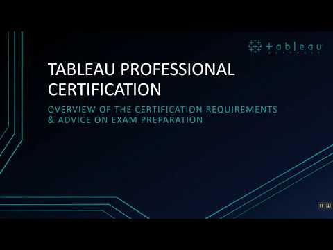 TABLEAU: Professional Certification Tips - YouTube