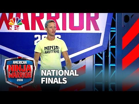 Geoff Britten at the National Finals: Stage 1 - American Ninja Warrior 2016