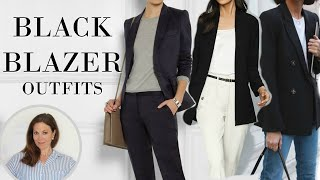 Black Blazer Outfit Ideas | Fashion Over 40