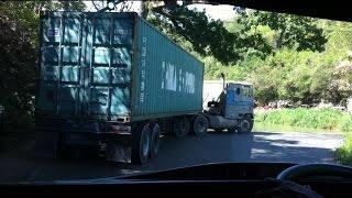 Tractor Trailers going over Flat Bridge Bog Walk Jamaica
