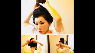 How To Make Japanese  Hairstyle  ?!時には 日本髪で。。。